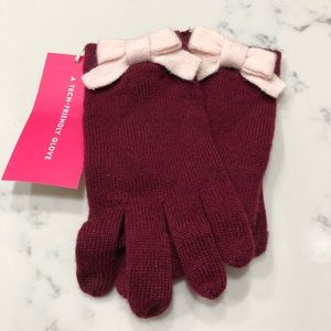Kate Spade Tech Gloves Colorblock Bow